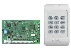 Komplektai DSC PC1404 ir PC1404RKZ apsaugos sistemos komplektas