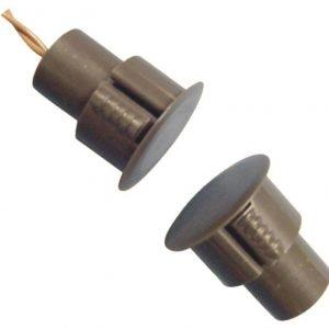 Magnetiniai kontaktai 3/4″ Įleidžiamas magnetinis kontaktas šarvuotoms durims (rudas)