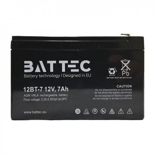 Maitinimo šaltiniai Akumuliatorius BATTEC 7Ah 12V