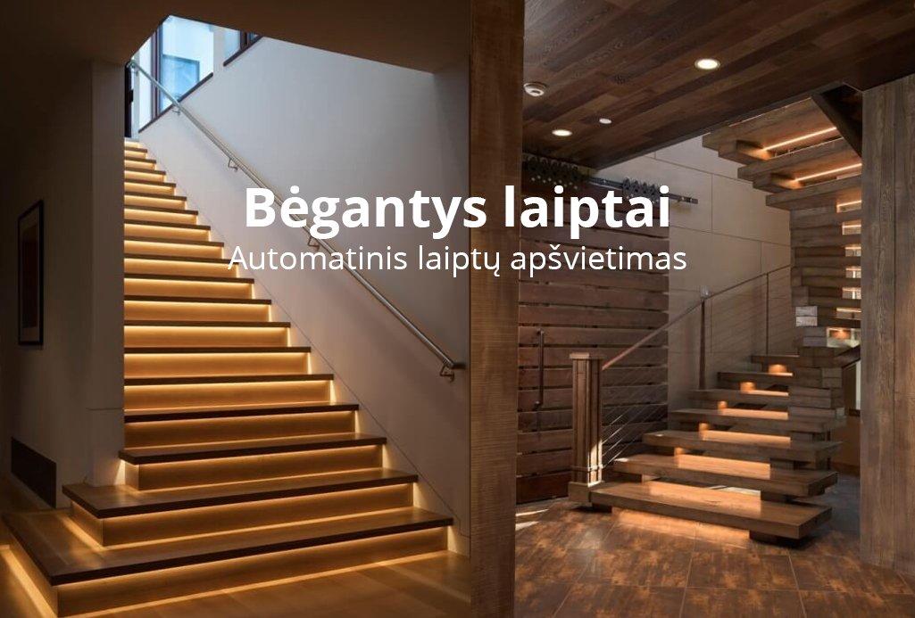 begantys laiptai