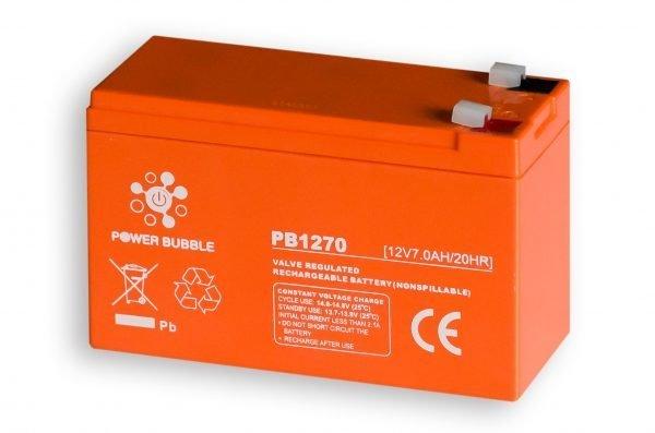 Maitinimo šaltiniai Akumuliatorius POWER BUBBLE 7Ah 12V