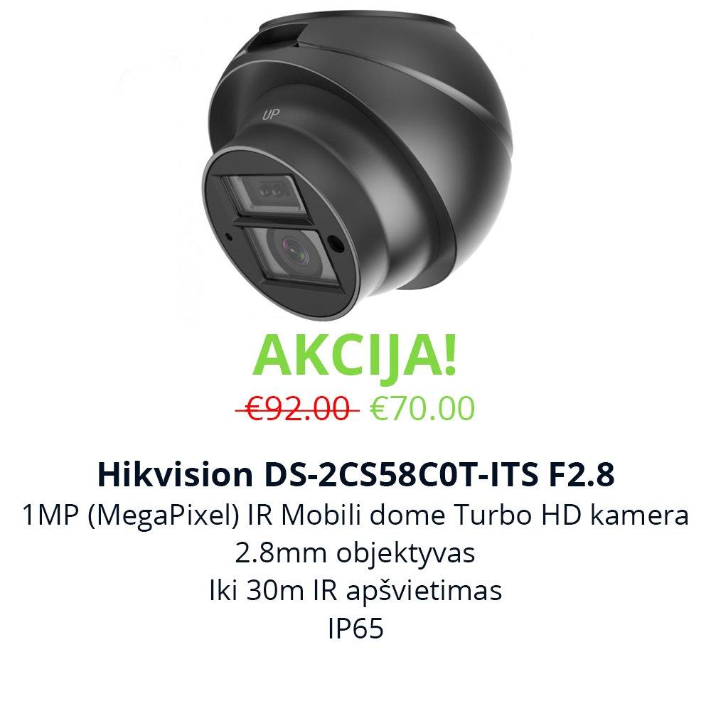 Akcija Hikvision DS-2CS58C0T-ITS F2.8